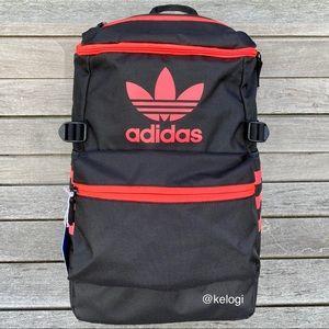 🖤NEW❤️Adidas Blk & Pink Trefoil Zip Top Backpack